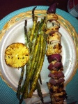 Grilled Chicken Kabobs & Asparagus